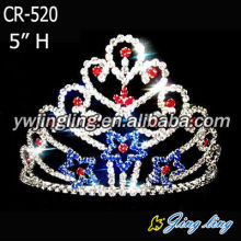 Holiday Red And Blue Pageant Crowns CR-520