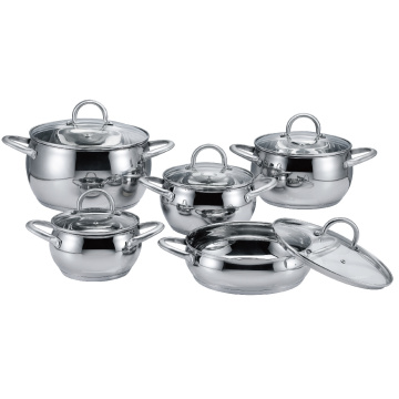 SSHollow Handle Apple Shape Casserole Set