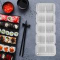 DIY Sushi Mold 5 Rolls Food Grade Plastic Nigiri Sushi Maker Rice Ball Molds Non Stick Press Bento Sushi Kit Kitchen Bento Tool