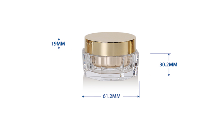 15 g Octangle Shape Cosmetics Acrylic Jar