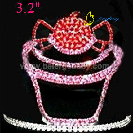 3.2 Inch cupcake and candy tiaras crowns