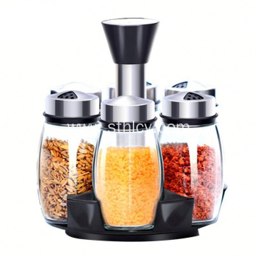 Stainless Steel Seasoning Pot glass Seasoning Set