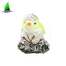 Most popular color birds pendant Christmas glass ornament