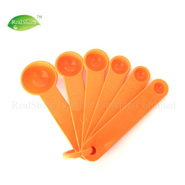 Set of 6 Colored Mini Measuring Spoons Set