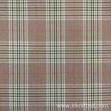 Yarn-dyed checked fabric