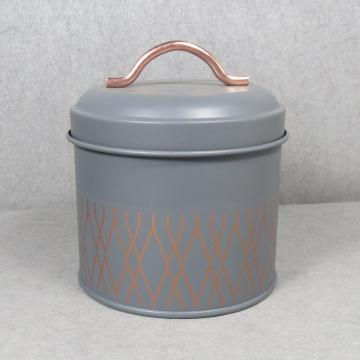 Home Basics Tin Kitchen Food Storage Grey