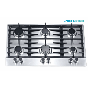201 level S.S Gas Hob 6 Burners