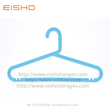 EISHO Adult Blue Recycle Flat Plastic Hangers