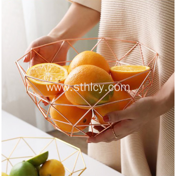 Stainless Steel Golden Fruit Serving Tray