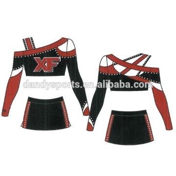 Unique Design Strapless Cheer Uniform For Youth