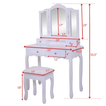 Wooden Girls Dressing Table Designs With mirror