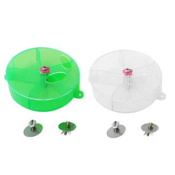 Bird Creative Foraging Toy Cage Feeder Treat Holder Seed Food Ball Rotate Wheel for Parrot Parakeet Cockatiel Conure