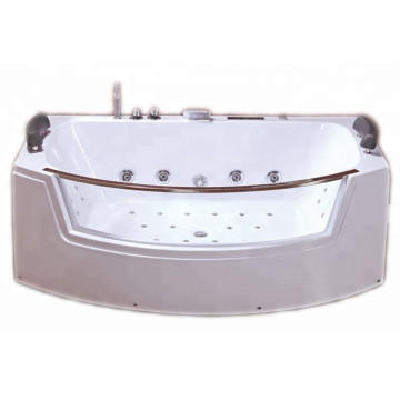 Jetted Clear Glass Bathtubs with Led Light