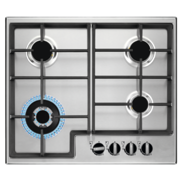 Zanussi 60cm Gas Hob in Stainless Steel