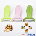 Stainless Steel Colorful Eggplant Fruit Vegetable Peeler
