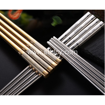 Household Restaurants Anti-skid Stainless Steel Chopsticks