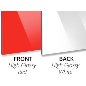 Gloss Red/Gloss White Aluminium Composite Panel