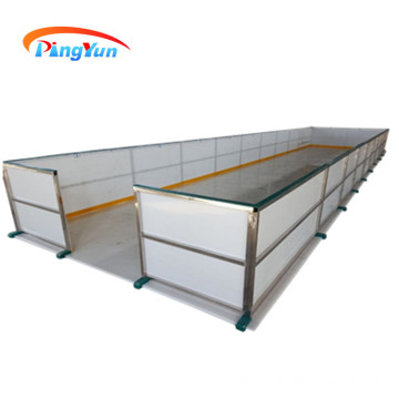 UHMWPE glide synthetic ice rink panel