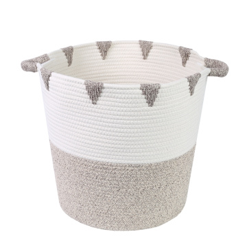 Wholesale Custom Cotton Rope Basket with Handles
