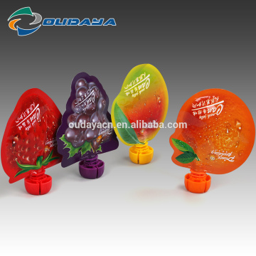Plastic Customized Fruit Shaped Juice pouch