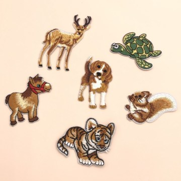 Animal Embroidery Patches Iron On Clothing Applique