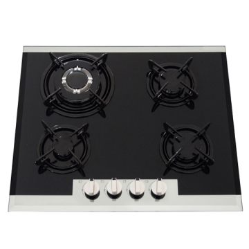 Black Glass Gas Hobs 4 Burner in Malayzia