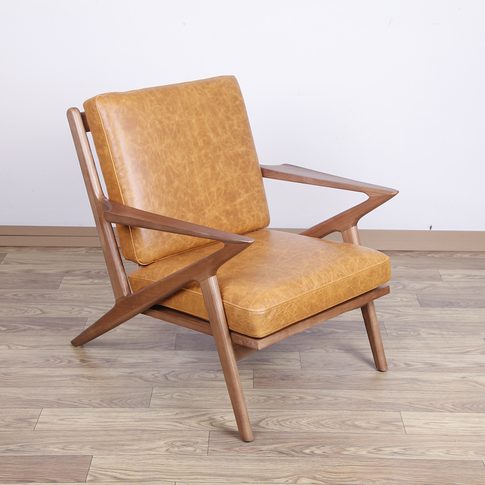 Wooden Selig lounge chair