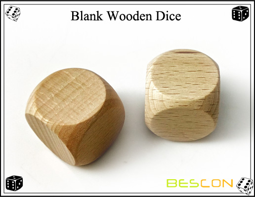 Blank Wooden Dice