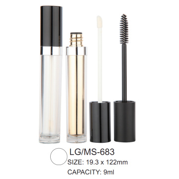 Round Empty Cosmetic Lip Gloss/Mascara Packaging