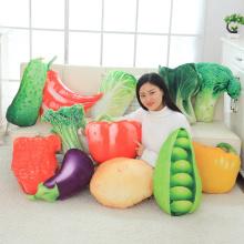 40-60CM Simulation Vegetable Pillow Cushion Vegetable Plush Dolls Potato Broccoli Cabbage Pea Pepper Plush Toy Creative Home