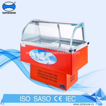 Display Freezer Chiller for Ice Cream and Seafood
