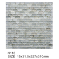 Off-white hazy modern glass mosaic tiles art