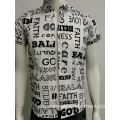 Mens voile print slim fit shirt in summer
