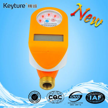 Brass IC Card Water Meter Orange Color