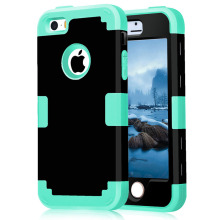 Case Covers on For iPhone 5S Shockproof Protect Case Hybrid Hard Rubber Impact Skin Armor Phone Cases For iPhone SEw/Screen Film