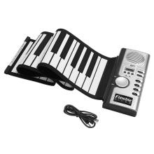 61 Keys Hand Roll Up Piano Keyboard Instrument Lightweight Portable Folding Electronic Organ Portable Music Element