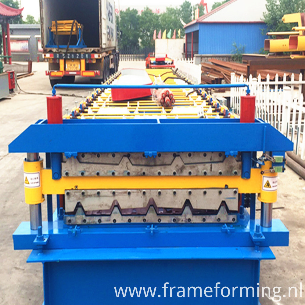 colored steel double layer roofing machine