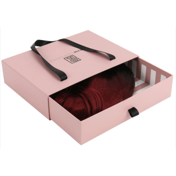 Drawer Box With Ribbon Handle For Hair Extension