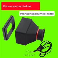 Durable 3.2inch LCD Viewfinder 3X Magnifier, Micro SLR Camera Magnifying Viewfinders, Accessories for DSLR Mirrorless Cameras
