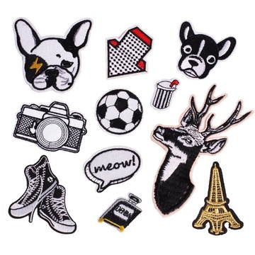Cartoon Embroidery Patches Clothing Football