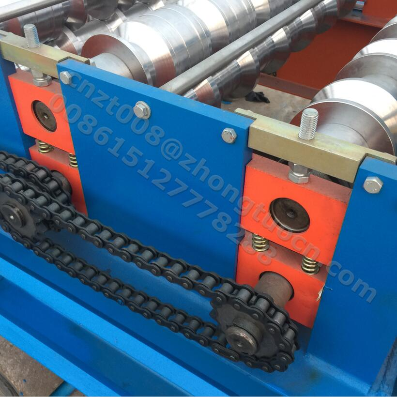Metal steel wall and roof tile making machine