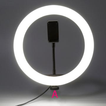 Youtube Shooting Vlog Selfie Circular Photo Ring Light Led Photographic Video Camera Lamp Studio Lighting Phone Holder