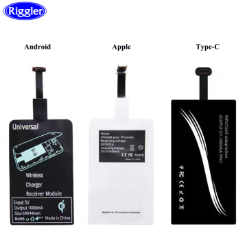 Qi Wireless charging Receiver Charging for iphone 7 6 6S Micro USB Type C Wireless Charging Connector for Huawei Samsung