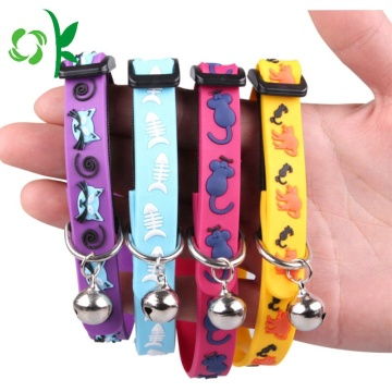 Cartoon Printed Silicone Pet Collar