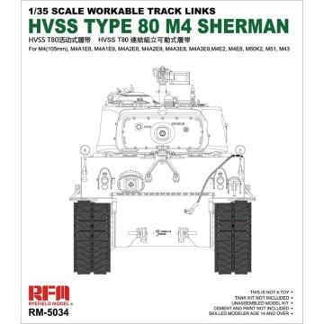 Rye Field Model RFM RM-5034 1/35 Workable Track for HVSS Type 80 M4 Sherman - Scale model Kit