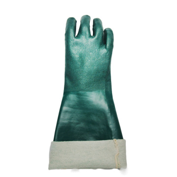 Green PVC Dipped gloves jersey liner 18''