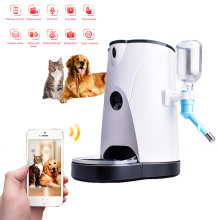 Smart Wifi Automatic Cat Feeder Pet Food Dispenser Feeding Bowl APP Control Voice Recording Camera Pet Automatic Drinking Bowl