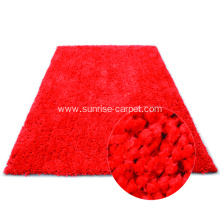 Polyester Shagy flooring rug carpet in Plain color