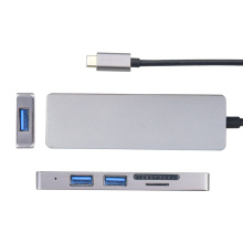 Multiple Support USB3.0 Type-C HUB TO HDMI+SD+TF+USB3.0*2