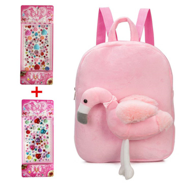 CUTE FLAMINGO PLUSH BACKPACK-0